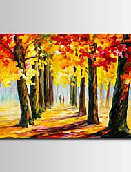pintura abstrata / mediterrâneo paisagem do vale de óleo com faca de paleta pintados à mão / canvas um painel