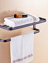 Contemporary Antique Black Brass Material Bathroom Shelf