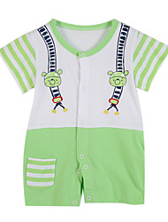Girl's Green Clothing Set Cotton Summer / Spring