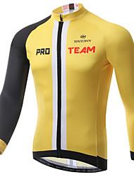 XINTOWN® Maillot de Cyclisme Homme Manches longues Vélo Respirable / Séchage rapide / Résistant aux ultraviolets / Limite les Bactéries