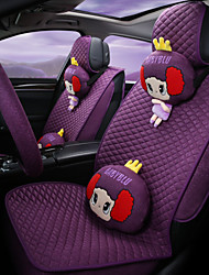 The New Full Surround Flax Car Seat Cover In Summer, Four Pad GM, Cartoon Lovely Woman And A 5 Seat Cushion