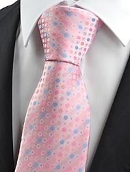 Cravate(Bleu / Rose,Polyester)A Pois