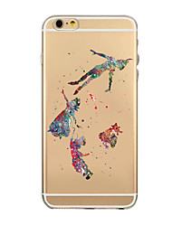 Para Funda iPhone 6 / Funda iPhone 6 Plus Transparente Funda Cubierta Trasera Funda Dibujos Suave TPUiPhone 7 Plus / iPhone 7 / iPhone 6s
