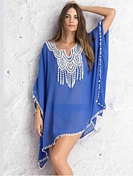 Robes Légères Aux femmes Couleur Pleine Sans Armature / Soutien-gorge Sans Rembourrage Bandeau Mousseline de soie / Polyester