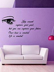 You Can Not Change The Past, But You Can Change The Future,Once Times Is Wasted Life Is Wasted Wall Stickers