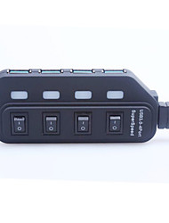 portable High-Speed-4.8Gbps USB 3.0 4-Port-Hub mit Schalter / Anzeige