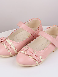 Girl's Summer Round Toe / Gladiator Leatherette Outdoor / Casual Flat Heel Applique / Rivet / Magic Tape Blue / Pink / Red