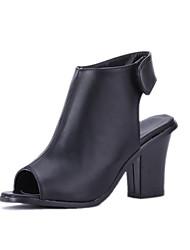Women's Shoes Heel Heels / Peep Toe Sandals / Heels Outdoor / Dress / Casual Black / White / Gray/1068-2
