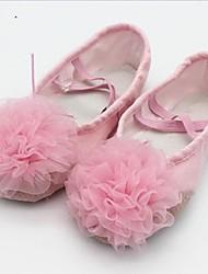 Non Customizable Women's Dance Shoes Canvas Canvas Ballet Flats Flat Heel Practice / Beginner / Professional / Indoor / OutdoorBlack /