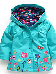 Girls' Floral Down & Cotton Padded,Cotton Winter Long Sleeve