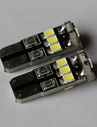 t10 marcador 2835-9smd lado da luz azul branco