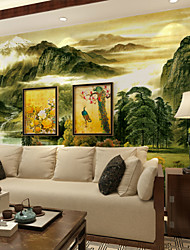 JAMMORY Large - scale Murals Chinese Wallpaper Living Room Sofa Backdrop Landscape Ink Landscape Painting  XL XXL XXXL