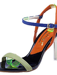 Women's Shoes Leather Stiletto Heel Heels Sandals Wedding / Office & Career / Party & Evening / Dress Yellow / Green