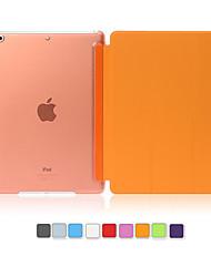capa de couro pu disco translúcido acordar capinha inteligente para iPad Air