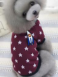 High Quality Handsome Star Printing Pet Fleece Coat