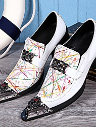 Sapatos Masculinos Mocassins Branco Couro Casamento / Festas & Noite