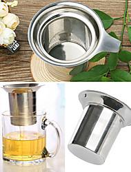 Stainless Steel Mesh Cup Durable Reusable Strainer Herbal Locking Tea Filter Infuser