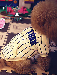 Dog Costume / Jersey Blue / White Dog Clothes Summer / Spring/Fall Stripe Cosplay / Sports