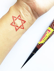 Halloween Natural Herbal KASHMIR Henna Cones Temporary Tattoo kit Mehndi Kaveri (Red)