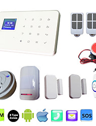 G18 IOS Android APP Control Intercom Wireless Touch Alarma GSM Alarm Systems Security Home With Smoke Detector Doorbell.