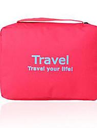 Bolsa de AseoForAlmacenamiento para Viaje Tejido Negro / Azul / Verde / Rojo / Rosa / Naranja 22*16*8