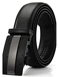 Men's Genuine Leather Ratchet Belt Business Waist Belts