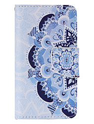 Blue and White Porcelain Painted PU Phone Case for Sony Xperia Z5 Compact/Z5