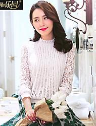 Wake Up ® Mujer Escote Chino Manga Larga Camisa y blusa Blanco-CS16001