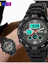Masculino Relógio Esportivo Digital Calendário / Impermeável Silicone Banda Preta marca