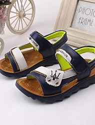 Boys' Shoes Outdoor / Athletic / Casual Leather Sandals Blue / Brown