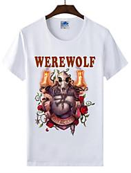 flamejantes mundo Light® of warcraft uau lycra de algodão t-shirt da raça lobisomem cosplay