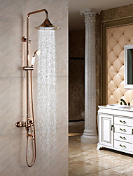 Shower Faucet Antique Rain Shower / Handshower Included Brass Rose Gold