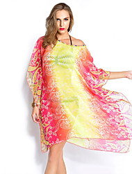 Women's Halter One-pieces / Cover-Ups,Boho One-Pieces Chiffon Red