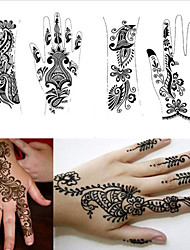 1Pcs Tattoo Templates Hands Henna Tattoo Stencils for Airbrushing Professional Mehndi New Body Painting Kit