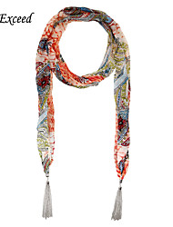 D Exceed   Tassel Shawls And Scarves Fashion Ethnic Print Winter Chiffon Scarf Necklaces For Women Jewelry Scarfs