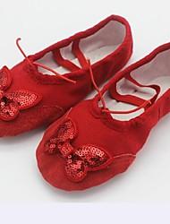 Non Customizable Women's Dance Shoes Satin / Canvas Satin / Canvas Ballet Flats Flat HeelPractice / Beginner / Professional / Indoor /