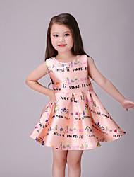 Vestido Chica dePoliéster-Verano-Naranja