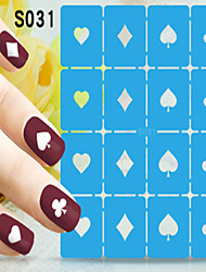 1pcs  New Nail Art Hollow Stickers Interesting Picture Designs Nail Art Beauty S031-S040