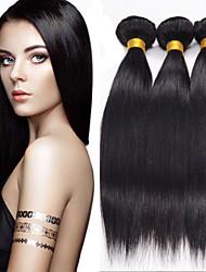 3pcs cabelo humano brasileiro cabelo liso tece cor natural do cabelo virgem 8-26 polegadas