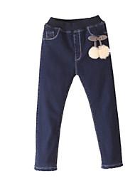 Jeans Girl Inverno Poliestere Blu