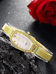 Mulheres Relógio de Moda Quartzo Lega Banda Dourada Dourado