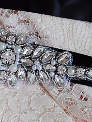 Satin Wedding / Party/ Evening / Dailywear Sash-Beading / Appliques / Rhinestone Women's Sashes