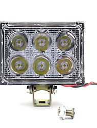12-85V Motorcycle Automobile Square 18W LED Working Spotlight