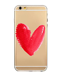 Love Flowers Pattern TPU Transparent Soft Shell Phone Case Back Cover Case for iPhone6/6S