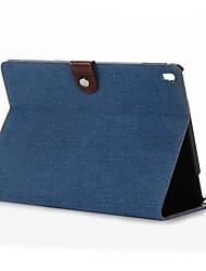 motif de grain de cowboy 9,7 pouces véritable étui portefeuille en cuir avec support pour iPad pro 9.7 (couleurs assorties)