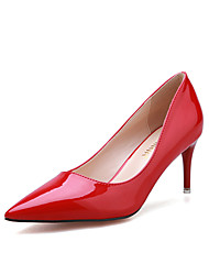 Women's Shoes Stiletto Heel Heels / Pointed Toe / Closed Toe Heels Dress Black / Pink / Red / White / Silver