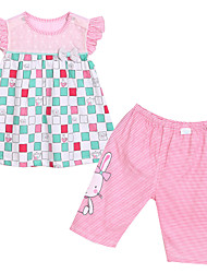 Girl's Clothing Set,Cotton Summer Pink