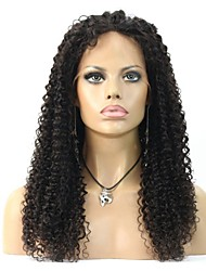 frente perucas brasileiro do cabelo humano peruca de moda 8-24inch Kinky afro encaracolado cor natural 100%