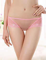 Women's Super thin hollow out sexy temptation mesh Derrière low waist briefs