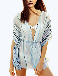 Women's Western Style Stripe Thin Cover-Ups , Chiffon